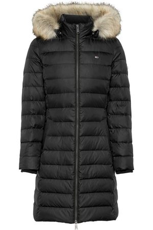 Tommy Hilfiger Steppjacke »TJW ESSENTIAL HOODED DOWN COAT« mit abnehmbarem Fellimitat an der Kapuze